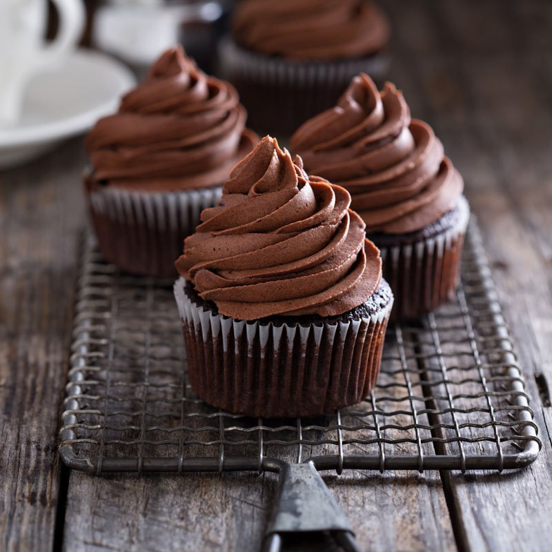 SWEETLY Chocolate Cupcakes with Chocolate Butter Icing