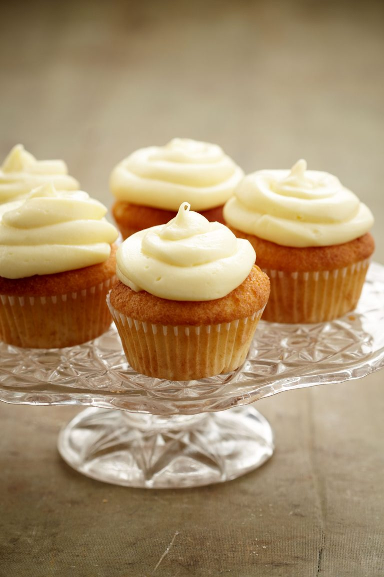 SWEETLY Vanilla Cupcakes with Vanilla Butter Icing