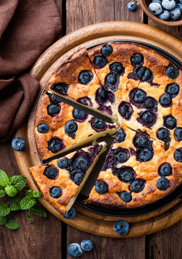 SWEETLY Blueberry Baked Cheesecake