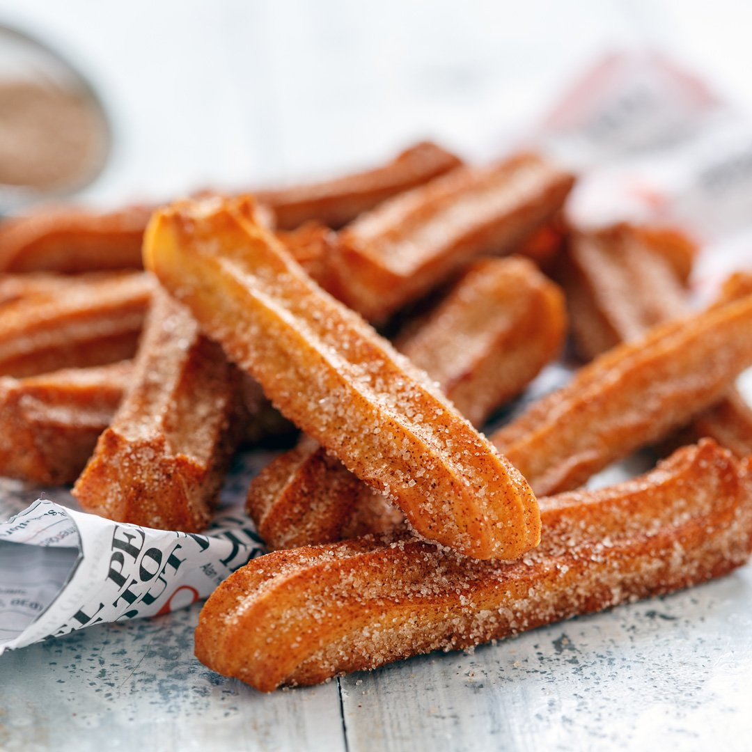 SWEETLY Churros with Chocolate Dipping Sauce